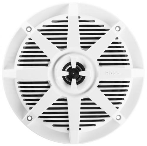 """Boss Marine Pair of 6-1/2"""" White Marine 2-Way Full Range 200 Watt Speakers"""