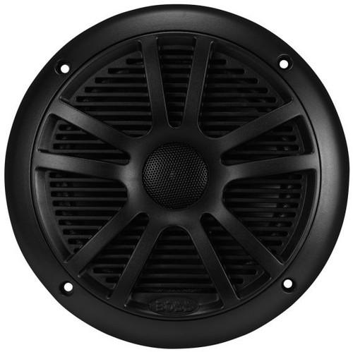 """Boss Marine Pair of 6-1/2"""" Black 2-Way Marine Full Range 180 Watt Speakers"""