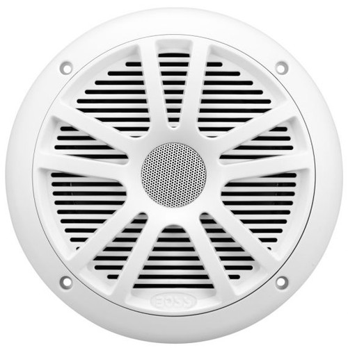 """Boss Marine Pair of 6-1/2"""" White 2-Way Marine Full Range 180 Watt Speakers"""
