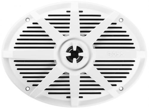 """Boss Marine Pair of 6"""" x 9"""" White 2-Way Marine Full Range 350 Watt Speakers"""