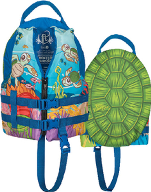 Full Throttle Turtle Water Buddies Child Type III PFD Safety & Life Vest for Boats