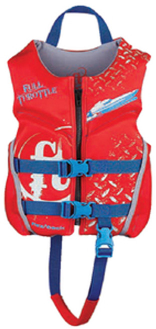 Full Throttle Red Rapid Dry Flex-Back Child Sized Type III PFD Safety, Life & Ski Vest for Boats