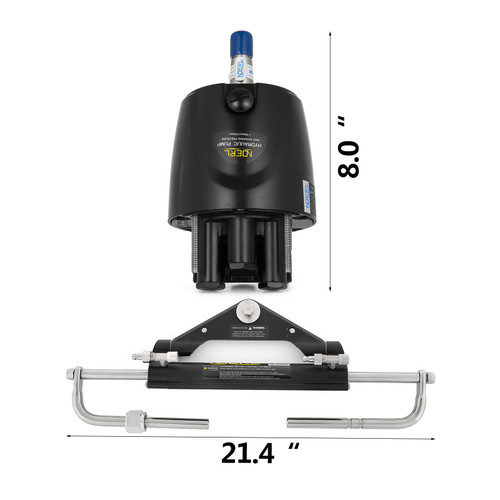 Boat Hydraulic Outboard Steering System Kit - Up To 150 HP and 55 MPH