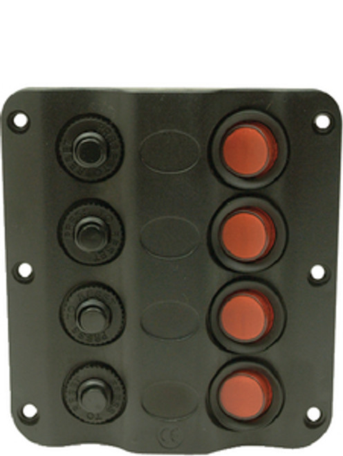 Contoured 6 Gang LED Rocker Switch Panel with Circuit