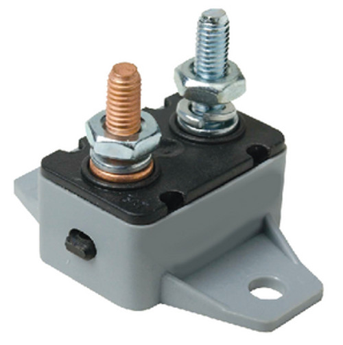 12 or 24 Volt 20 Amp Manual Reset Circuit Breaker for Boats and Trolling Motors