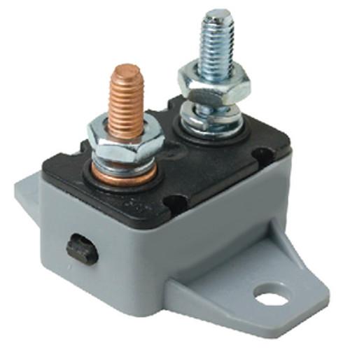 12 or 24 Volt 30 Amp Manual Reset Circuit Breaker for Boats and Trolling Motors