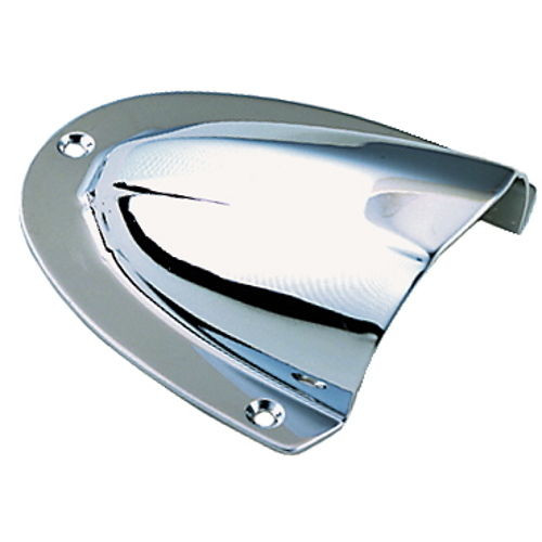 Large Polished Stainless Steel Clam Shell Ventilator or Wire Cover for Boats
