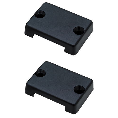 2 Pack of Black Plastic Wire and Cable Covers for Boats - Holes up to 1-1/4 Inch