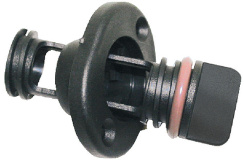 Screw Type Retained Nylon Drain Plug for Boats - Fits 1 Inch Diameter Hole