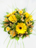 Yellow Gerbera Daisies & roses make this Sunshine Bouquet the perfect gift.