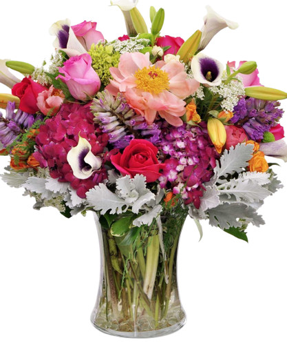 Luxury blooms in a large mixed bouquet