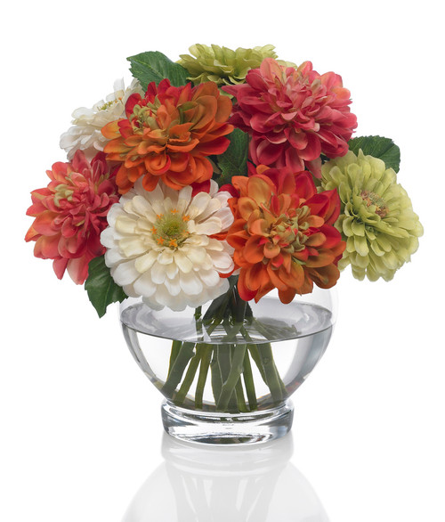 Zinnias & Dahlias - Beautiful Bright Colors