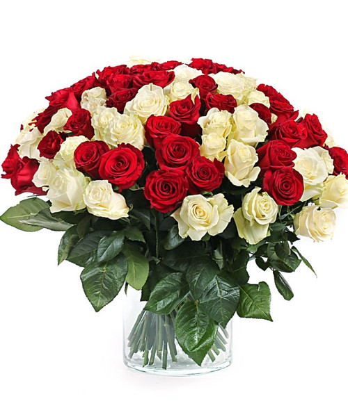 Red & White Roses Luxury Duo