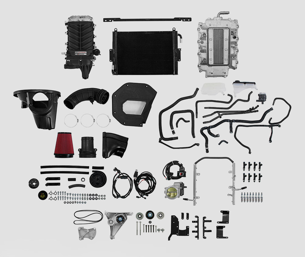 2018 Mustang GT Ford Performance Supercharger Package Contents