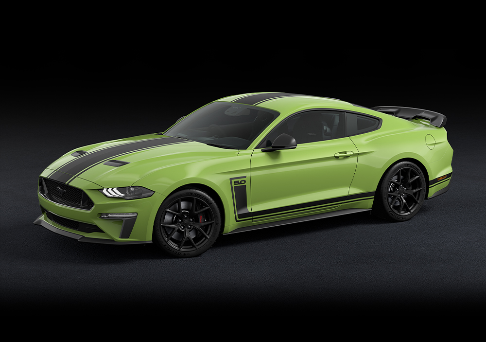 Green Ford Mustang R-SPEC