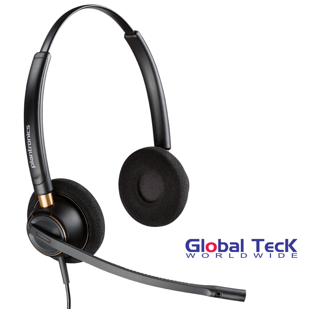 Plantronics Encore Pro Hw520 Corded Duo Headset Nortel Polycom Cisco Mitel Avaya Shoretel And Other Business Phones Requires Adapter 89434 01