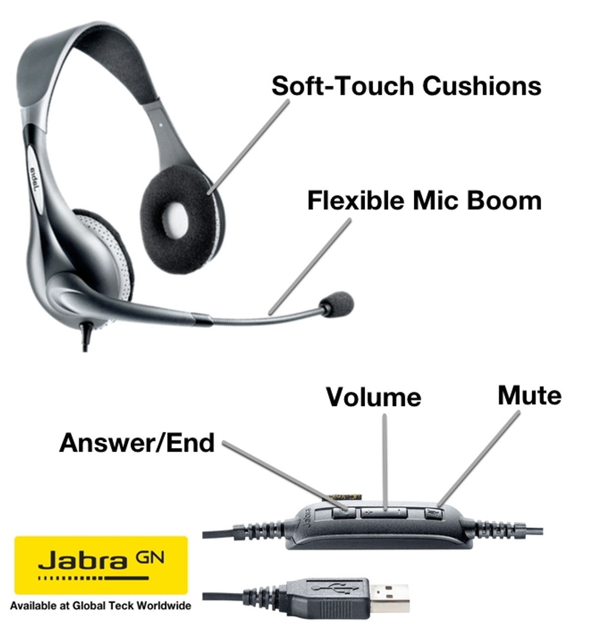 Jabra Noise Guide Monitors Room Noise Levels Active Feedback System 14207 41