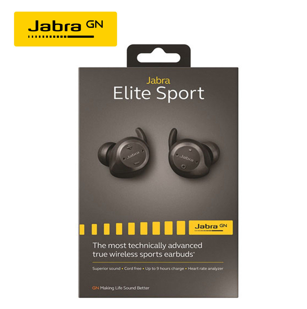 Jabra Wireless Earbuds Elite Sport Bluetooth Earbuds Bluetooth Cordless Water Dust Proof Earbuds For Android Or Apple Ios Smartphones 3yr Warranty 100 98600001 02
