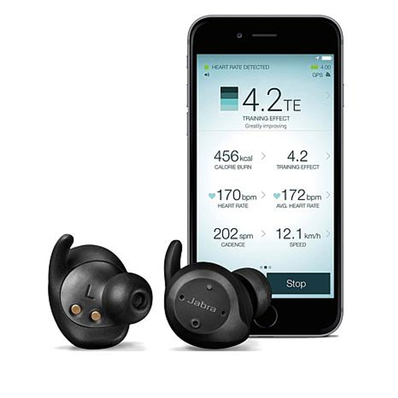 Jabra Wireless Earbuds Elite Sport Earbuds Bundle With Bonus Ac Adapter Bluetooth Cordless Water Dust Proof Earbuds For Android Or Apple Ios Smartphones 3yr Warranty 100 98600001 02 B 100 98600001 02 B