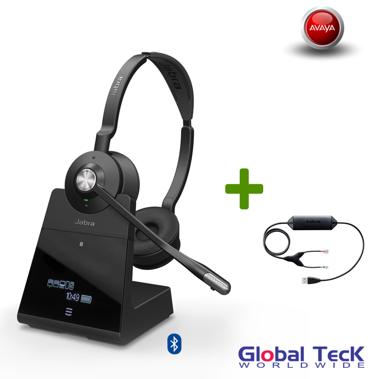 Avaya Phone Compatible Jabra Engage 75 Wireless Stereo Headset 9559 583 125 Bluetooth Pc Deskphone Usb Nfc Dect For Avaya 1120e 1140e 1150e 1165e 13 Hours Battery Integrated Busy Light Connect 5 Devices