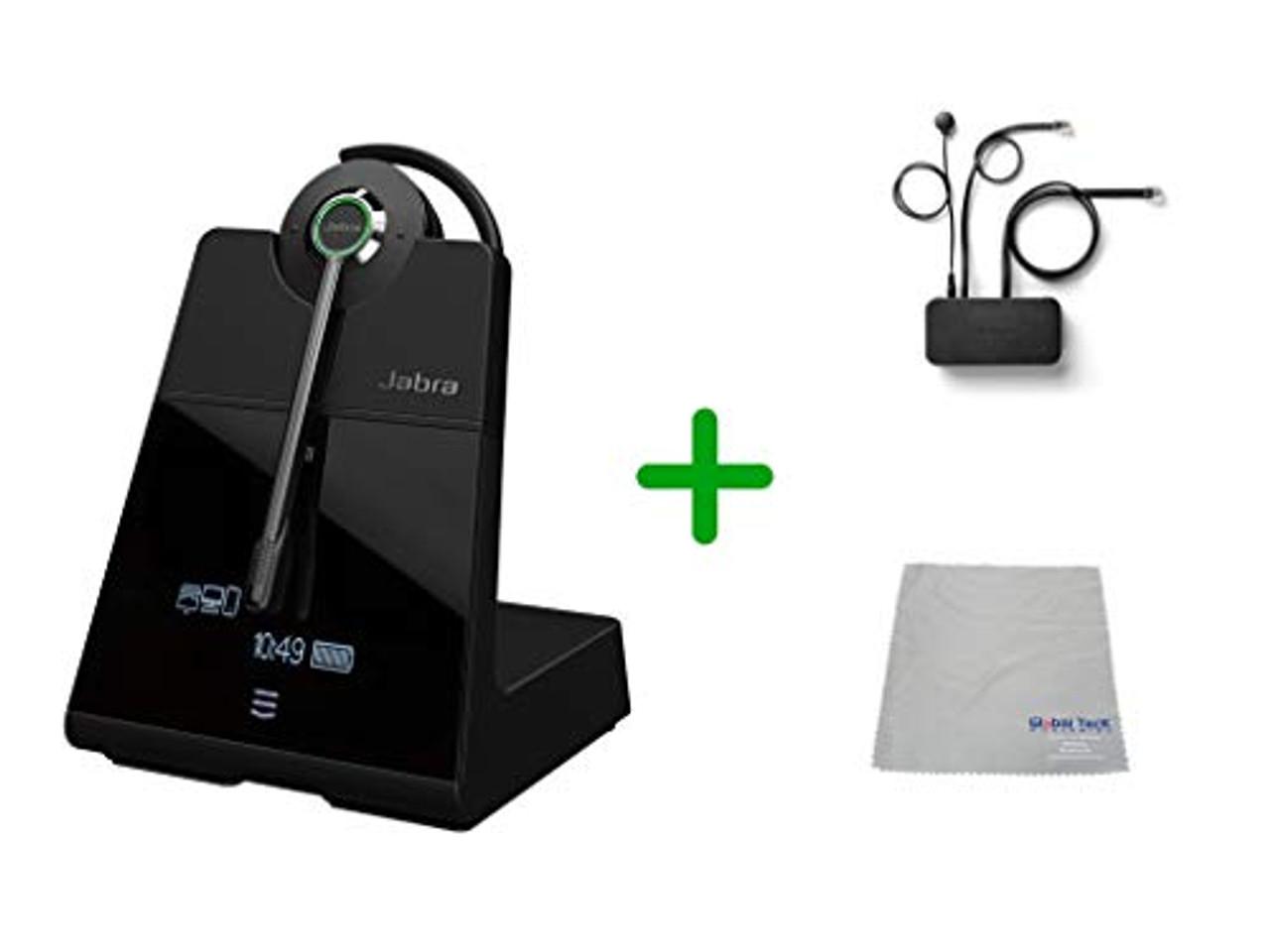 Avaya Compatible Jabra Engage 75 Wireless Headset Bundle With Ehs Adapter 9555 583 125 Ava35 Avaya Deskphones Bluetooth Phones Pc Mac Compatible Models J169 J179 1608 1616 1608 1616 9620 9630 9640 9650 9 Hour Battery Global Teck