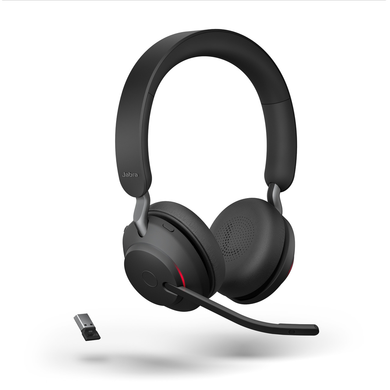 Jabra Evolve2 65 Stereo Wireless Headset Black Ms Version Includes Usb Bluetooth Dongle
