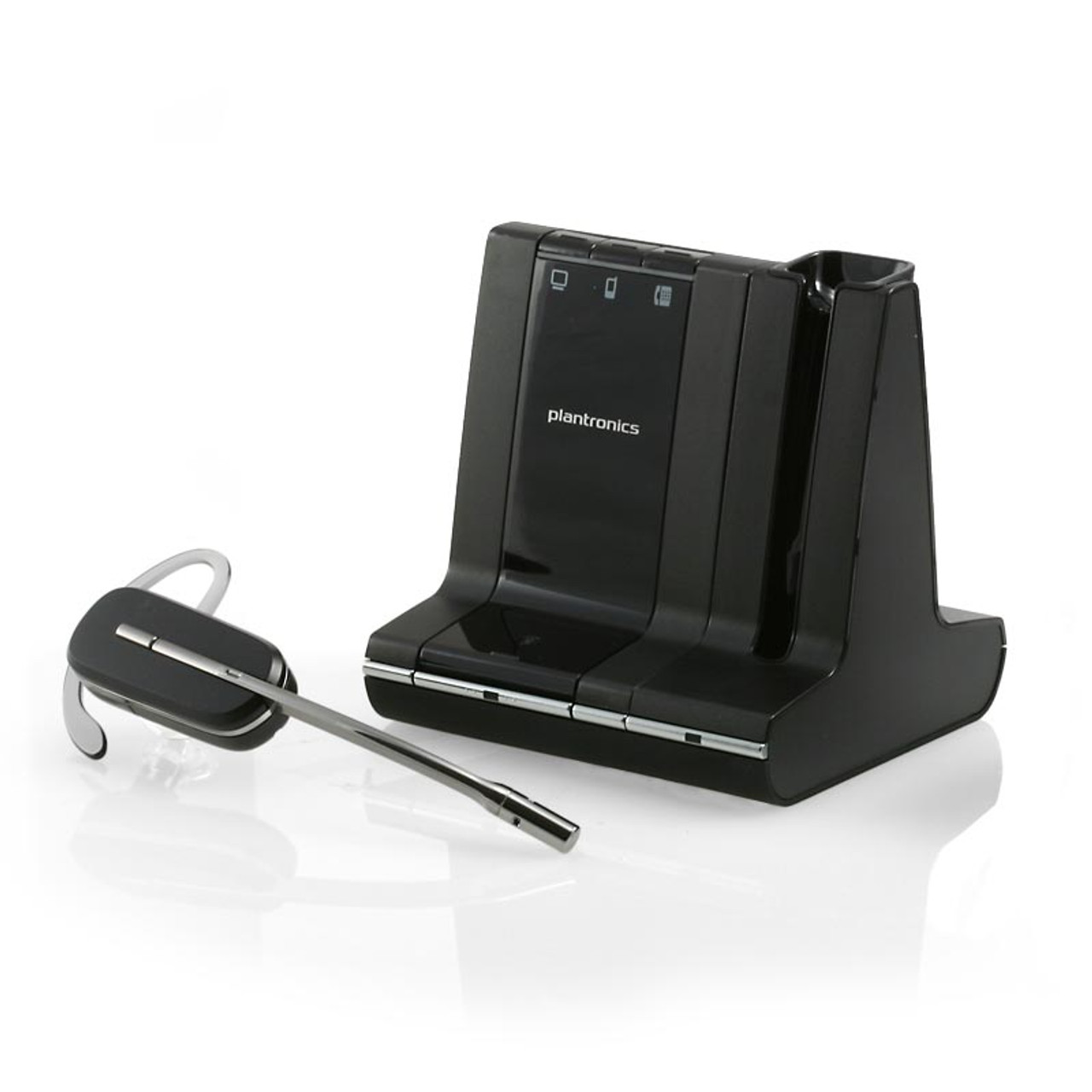 Savi W740 83452 01 Multi Use Wireless Bluetooth Headset For Pc Mobile Smartphone Ipad Iphone Android Windows Tablet And Desk Phone Connect All Your Office Devices To One Headset Savi Plantronics Wireless Savi