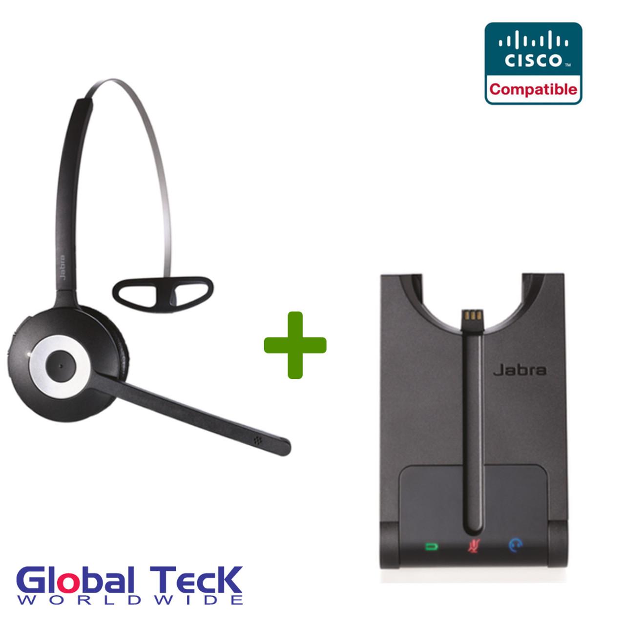 Cisco Compatible Jabra Pro 920 Wireless Headset System Cisco Compatible Linksys Spa Series 501g 502g 504g 508g 509g 525g 3900 7900 Series 3910 3911 3915 7902 7905 7910 7910 Sw 7912 7931 7937 7940 7941 7942 7945 7960 7961