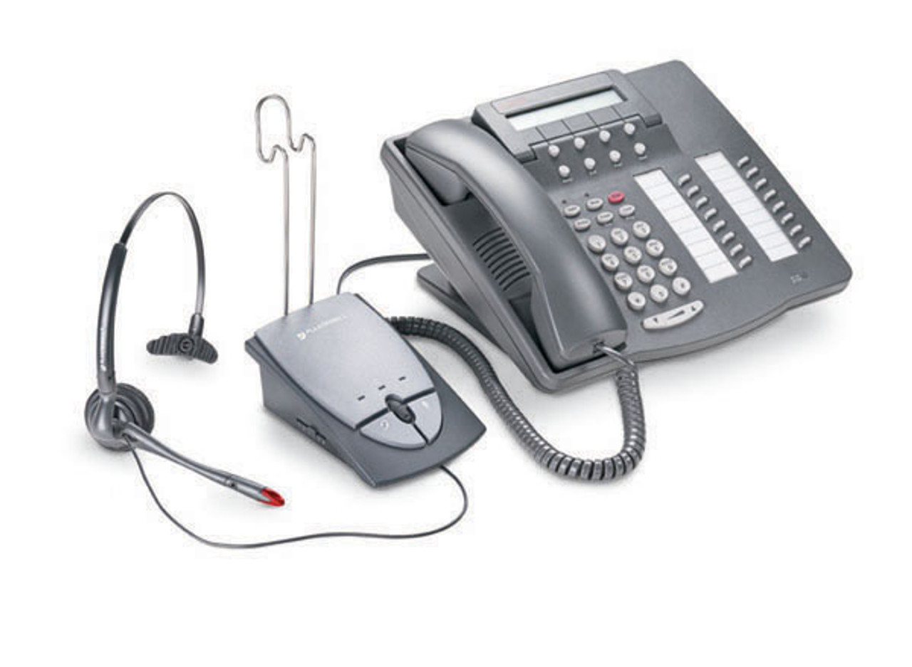 Cisco Compatible Plantronics S12 Telephone Headset System 65145 01 Amp And Headset Bundle