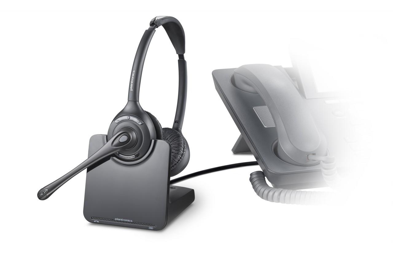 Plantronics Cs 520 Wireless Headset Duo 84692 01 Cs520 Wireless 520 Dect Binaural Plantronics Wireless Cs520headset