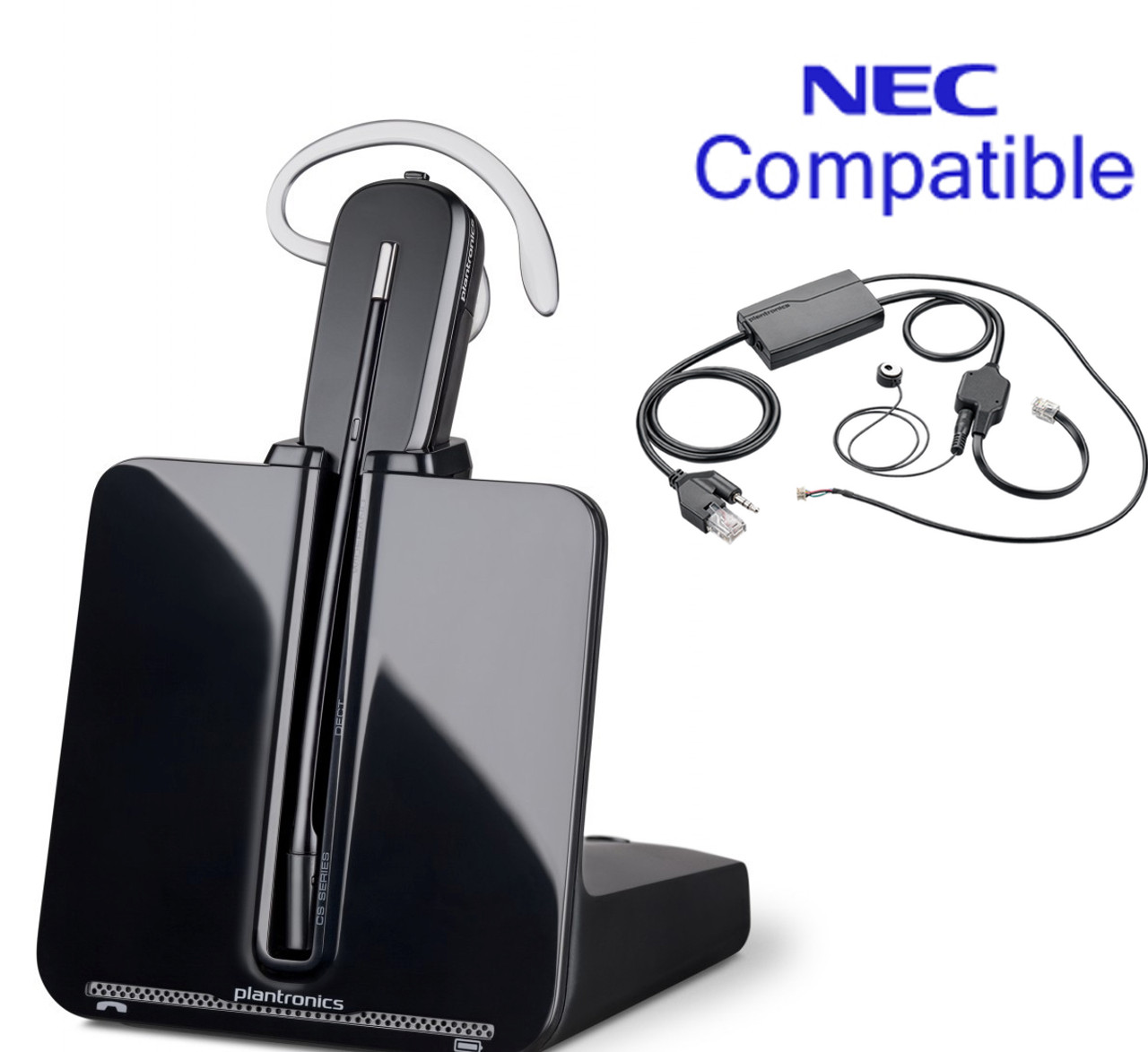 Nec Compatible Plantronics Cordless Headset Bundle Cs540 Ehs With Electronic Remote Answerer Nec Phones Dt850 Dt830 Dt 750 Dt 730 Dt 330