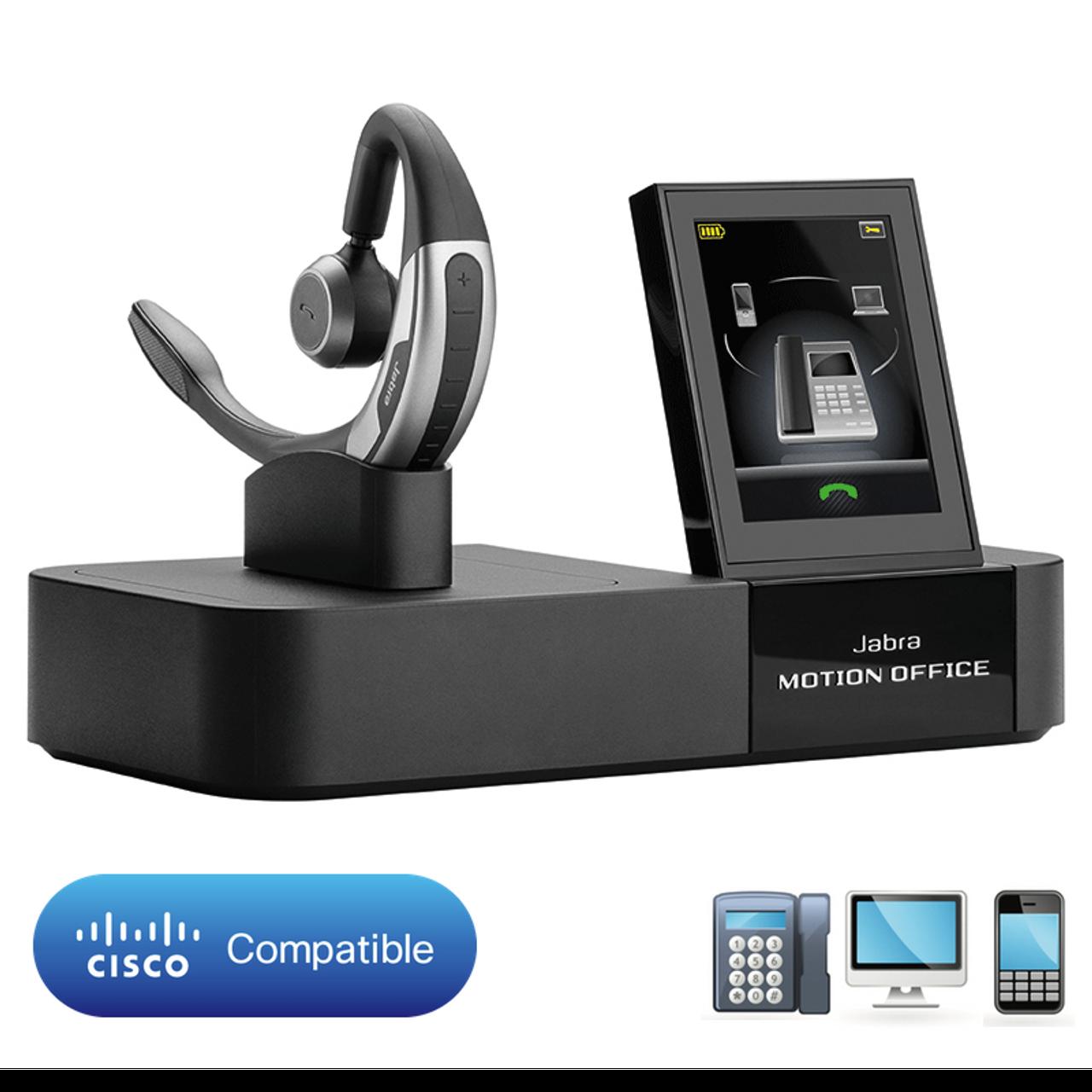 Jabra Motion Office 6670 904 105 Gn6670 Bluetooth Wireless Headset Desk And Smartphone Hot Desk