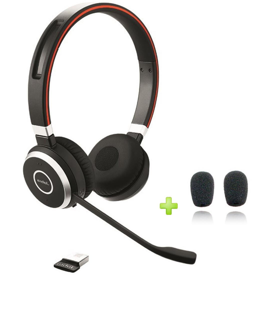 Jabra Evolve 65 Uc Stereo Bluetooth Headset Usb Bundle Windows Pc Mac Smartphone Streaming Music Skype Ip Communications 6599 829 409