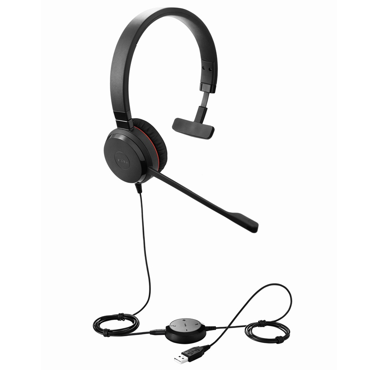 Jabra Evolve 30 Ii Uc Mono Usb Headset Certified For Unified Communications Voip Softphones Mobile Phones And Tablets 5393 829 309