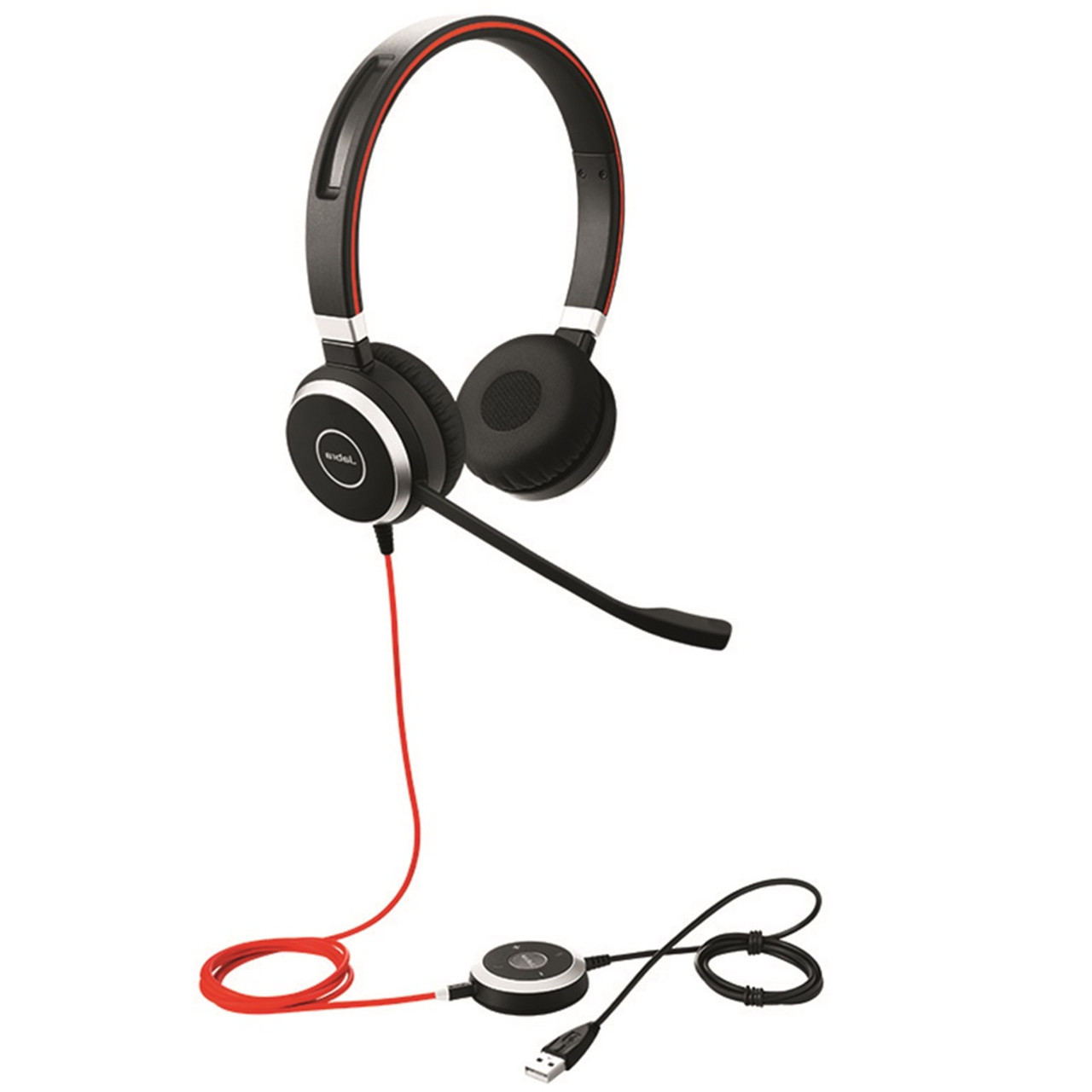 Jabra Evolve 40 Uc Stereo Usb Headset W Integrated Busy Indicator Certified For Unified Communications Voip Softphones Mobile Phones And Tablets 6399 829 209
