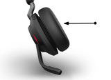 Premium Spare Leatherette (6 pcs) Black Ear cushions for Jabra Evolve2 40 MS Mono, 40 MS Stereo, 40 UC Mono, 40 UC Stereo, 65 MS Mono, 65 MS Stereo, 65 UC Mono, 65 UC Stereo | 14101-77