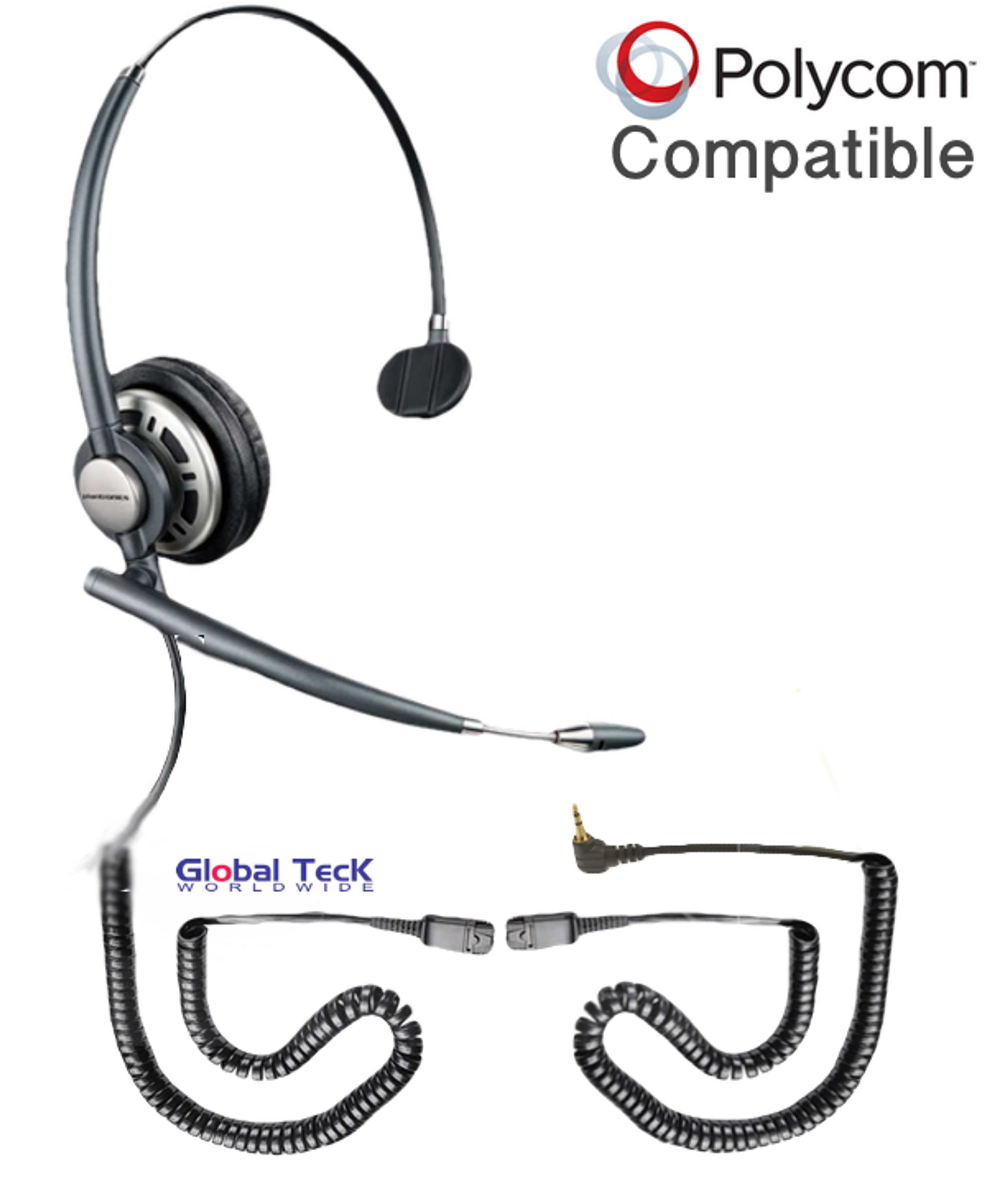 Polycom compatible XS 825 Duo Direct Connect Headset with