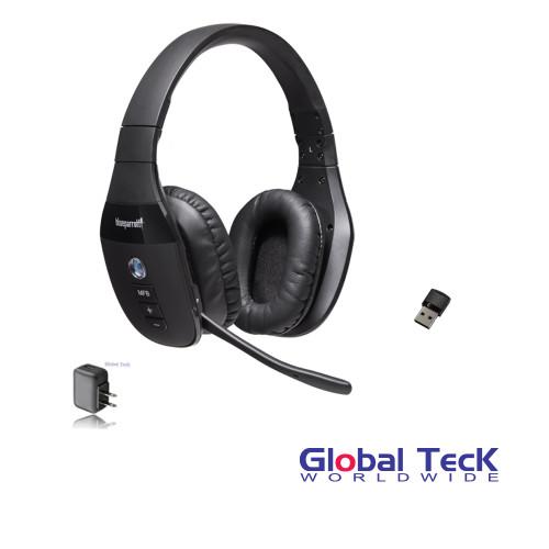 VXi BlueParrott S450-XT Bluetooth/NFC Stereo Mic Headphones w/ USB Bluetooth Dongle & Wall Charger