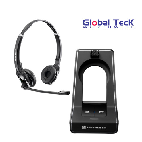 Sennheiser SD PRO2 - Stereo (Duo) Deskphone cordless Headset | Cordless Headset For PC/MAC and Desk Phones -  Cisco, Polycom, Avaya, Yealink, ShoreTel | Compatible with IP telephones, Digital and Softphones