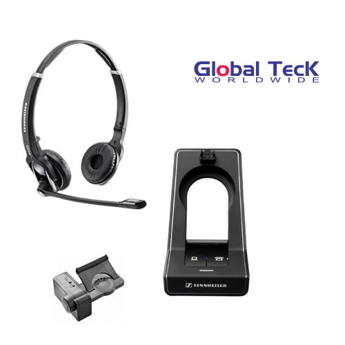 Sennheiser SD PRO2 - Deskphone Cordless Headset For PC/MAC with Polycom Remote Answering EHS included