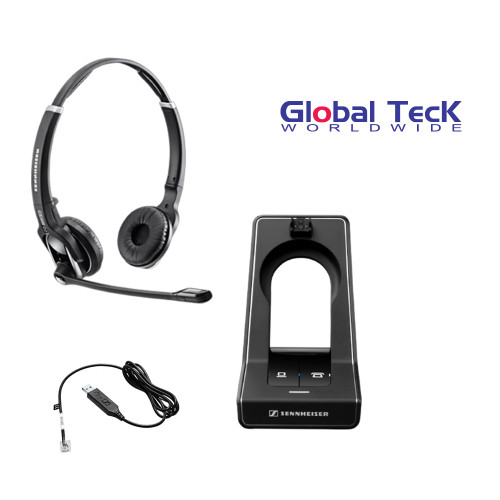 Sennheiser SD PRO2 - Stereo (Duo) Deskphone cordless Headset with Cisco EHS Adapter | Compatible Cisco Models: Cisco 8941 and 8945