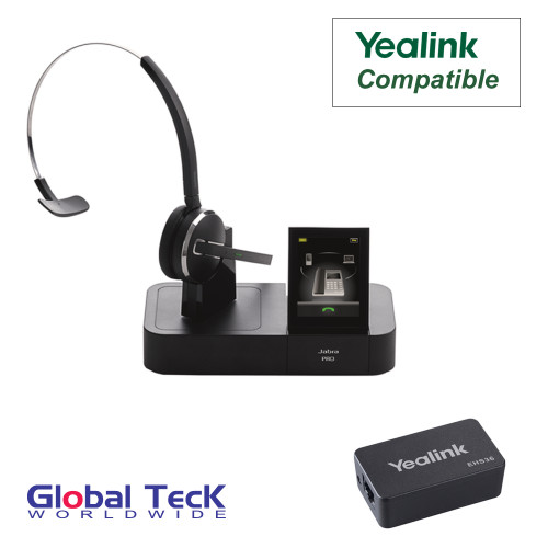 Yealink Phone Compatible Jabra PRO 9470 Bundle with EHS Remote Answering Adapter