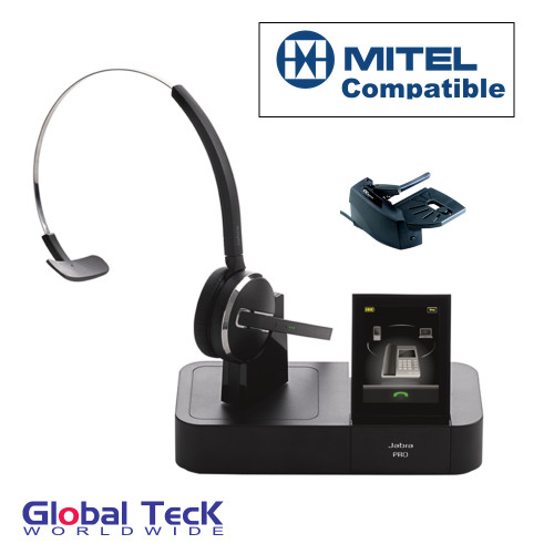 Mitel Phone Compatible Jabra PRO 9470 Bundle with Remote Answering Mechanical Lifter