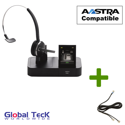 Aastra Phone Compatible Jabra PRO 9470 Bundle with EHS #14201-10 Remote Answering Adapter
