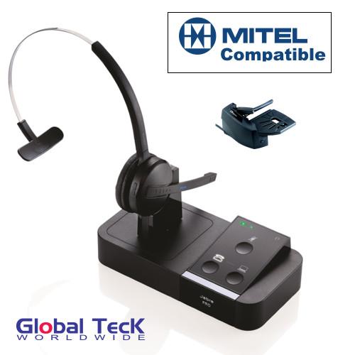 Mitel Phone Compatible Jabra PRO 9450 Bundle with Remote Answering Mechanical Lifter