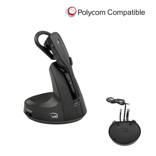 Polycom Phone Compatible VXi V300 Bundle for PC, Mobile, Deskphone | Polycom Remote Answer (EHS) Adapter Included | For Polycom: IP 335, IP 430, IP 450, IP 550, IP 560, IP 650, IP 670, VVX300, VVX500, VVX310, VVX600, VVX400, VVX1500