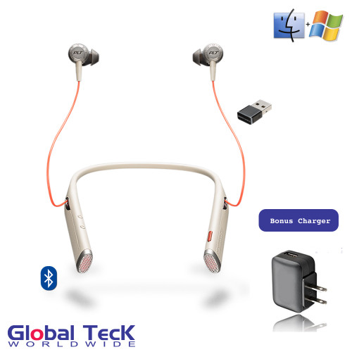 Plantronics Voyager 6200 UC DUO Bluetooth Headphone Neckband