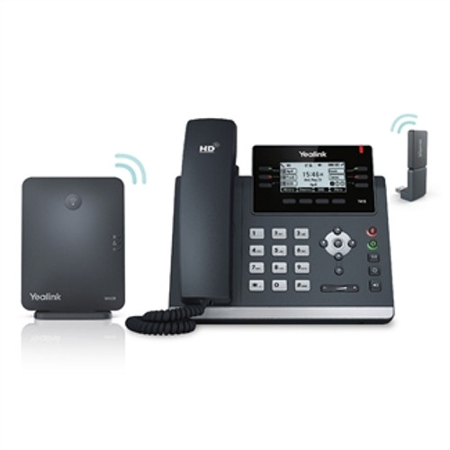 Yealink DECT Wireless Desk Phone Kit | T41S Phone, DD10K Dongle, W60B DECT Base (W41P)