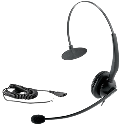 Yealink USB and 3.5mm Jack Mono Headset-YHS33-USB | VoIP, PC Headset | Noise Cancelling | Windows and Mac Compatible