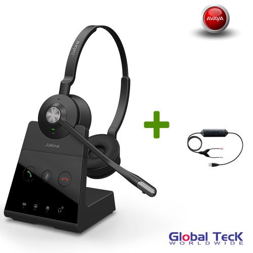 Avaya Phone Compatible Jabra Engage 65 Wireless Stereo Headset #9559-553-125